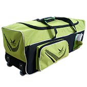 Thrax Proto 11 Wheel Cricket Kit Bag Green and Black