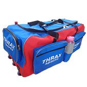 Thrax Duro 11 Wheel Cricket Kit Bag Red and Blue