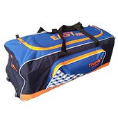 Thrax Ezy Pack Wheel Cricket Kit Bag Blue and Orange