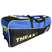 Thrax Teampak Wheel Cricket Kit Bag Black Blue and  Lime