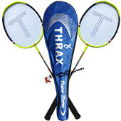Set Of 2 Thrax Power Storm Badminton Racket