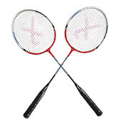 Set of 2 Thrax Hammer Power 11 Badminton Racket ( Red )