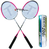 Yonex And Thrax Badminton Combo Offer Model 1