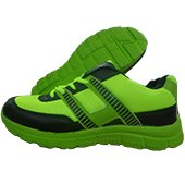 Thrax Mars Running Shoes Lime and Black