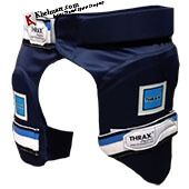 THRAX Thigh Guards Combo Blue Youth