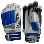 THRAX Neo 11 Youth Cricket Batting Gloves Blue and White