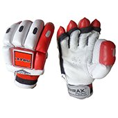 THRAX NEO 11 Youth Cricket Batting Gloves White Black and Red