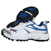 TK Bat Lite Stud Cricket Shoes Blue and White