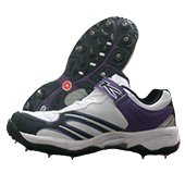 TK F50 Full Spike Cricket Shoes White and Purple