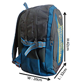 VDM Blue and Grey Casual Backpack