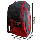 VDM Red and Grey Casual Backpack