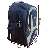 VDM Blue and Silver Casual Backpack