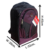 VDM Black and Purple Casual Backpacks