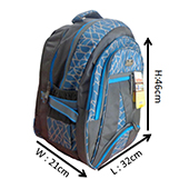 VDM Skyblue and Grey Casual Backpack