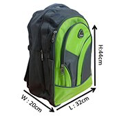 VDM Parrot Green and Grey Casual Backpacks