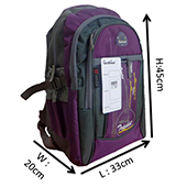 VDM Purple and Grey Casual Backpacks