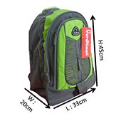VDM Green and Grey Casual Backpack