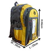 VDM 02 Yellow and Grey Casual Backpack