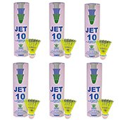 VICKY Jet 10 Nylon Shuttlecocks Yellow color 6 Boxes
