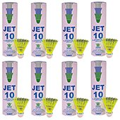 VICKY Jet 10 Nylon Shuttlecocks Yellow color 8 Boxes