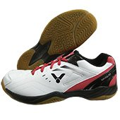 Victor SH A170 AD Badminton Shoes White and Red