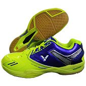 Victor SH S80 E Badminton Shoes Yellow and Blue