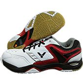 Victor SH A710 D Badminton Shoes White and Red