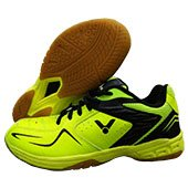 Victor AS 32 Badminton Shoes Neon Green and Moonless Night