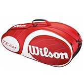 Wilson Team  6 PK Tennis Kitbag Red and White