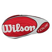 Wilson Tour 6 PK Tennis Kitbag Red