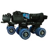 Yonker Tenacity Junior Roller Skates Black and Blue