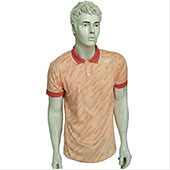 YONEX PM G017 12145 27B16 SR Badminton T Shirt Light Orange Color Neck Size Medium