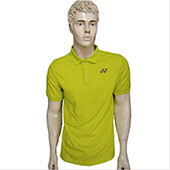 YONEX PM S092 783 278B16 S Badminton T Shirt Lime Punch Color Neck Size Large