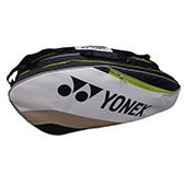 Yonex PPO8 BT6 Badminton Kit Bag White and Black