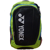 YONEX KNH02 Bag Pak Badminton Kit Bag Black and Green