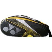 YONEX SUNR WP10TK BT6 S Badminton Kit Bag Black and Yellow