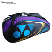 YONEX Sunr WP14TG BT6 S Badminton Kit Bag Dark Purple and Sky Blue