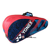 YONEX SUNR LRB01MS BT6 S Badminton Kit Bag Red and Navy