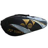 YONEX SUNR BA01TG BT6S Badminton Kit Bag Black and Gold
