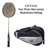 Offer on Yonex Badminton Racket voltric 7 and Thrax Neo Series Badminton Kit Bag