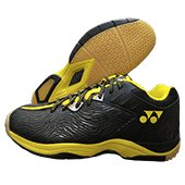 Yonex SRCP CFT Tru Cushion Badminton Shoes Black and Yellow