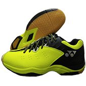 Yonex SRCP CFT Tru Cushion Badminton Shoes Lime green and Black