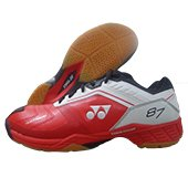 Yonex SHB 87 EX Badminton Shoes Red and White