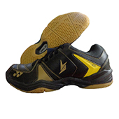 Yonex SHB 40 LD Badminton Shoes Black and Yellow