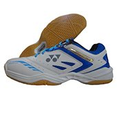 Yonex Power Cushion SHB 34EX Badminton Shoes (White and Blue)