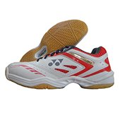 Yonex Power Cushion SHB 34EX Badminton Shoes (White and Red)