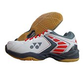 Yonex Power Cushion SHB 46EX Badminton Shoes (White and Red)