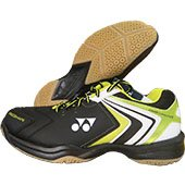 Yonex Power Cushion SHB 47EX Badminton Shoes Black and Lime