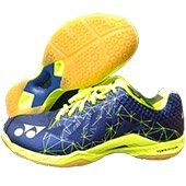 Yonex Power Cushion Aerus 2 Men Badminton Shoes Navy Blue and Lime