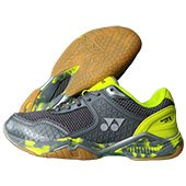 Yonex Super ACE V Badminton Shoes Grey and Lime Green